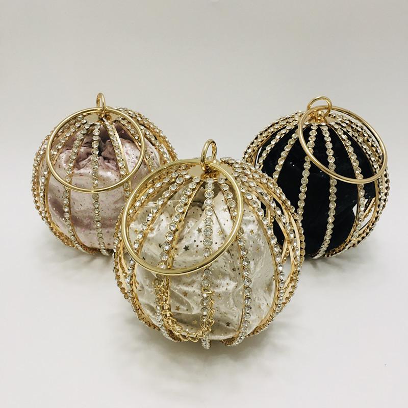 Hollow Diamond Ball Bag Evening Bag 0