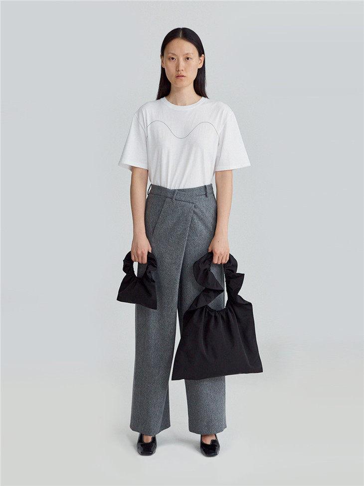 Pleated canvas bag 4