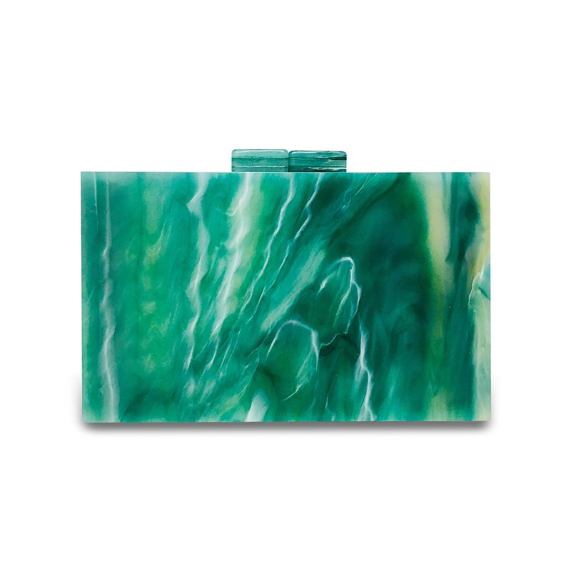 Emerald Green Acrylic Small Square Box 1
