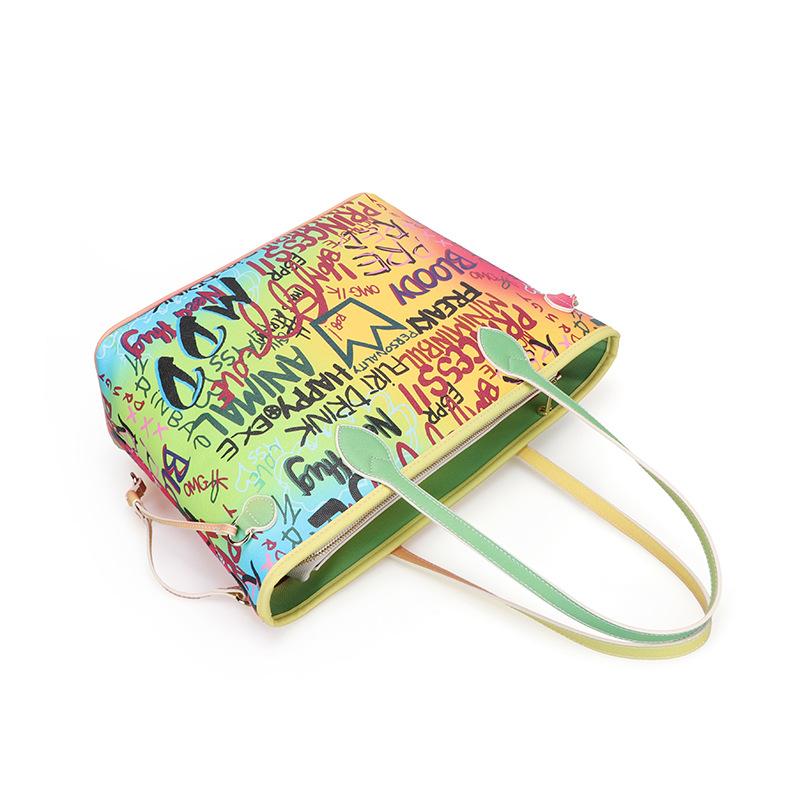 Tote bag female luggage large capacity hand-painted graffiti bag fashion handbag 1