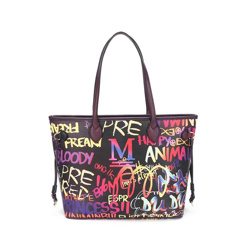 Tote bag female luggage large capacity hand-painted graffiti bag fashion handbag 3