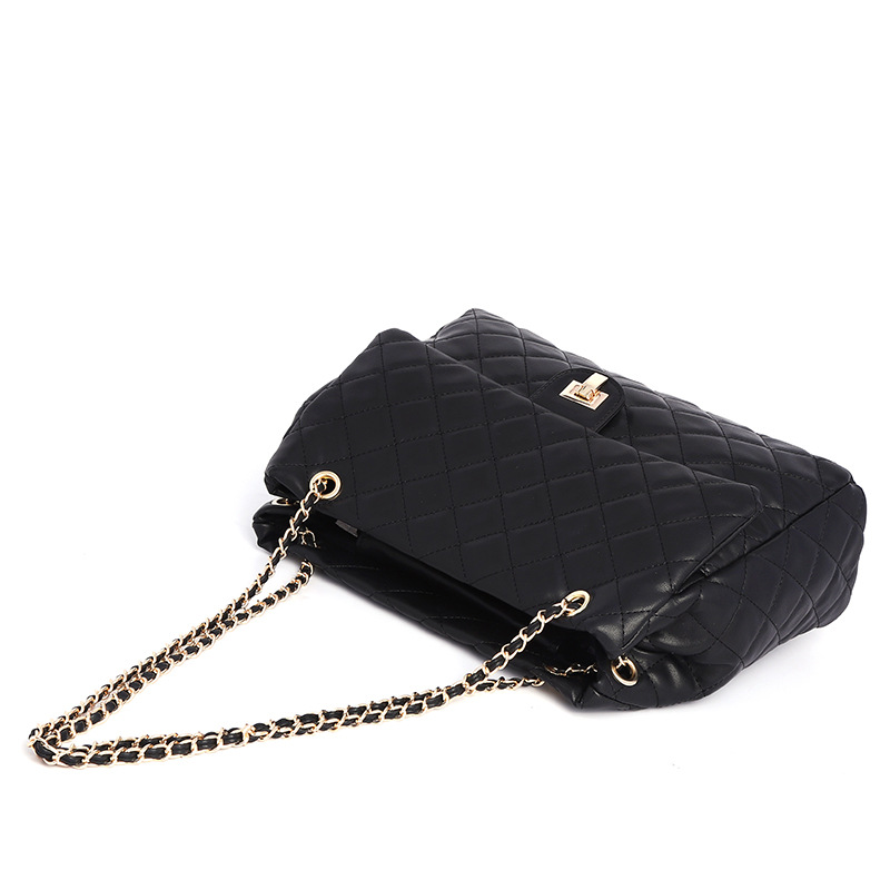 Lingge chain all-match handbag large bag women 2020 new large-capacity shoulder bag small fragrant wind and western style messenger bag 1