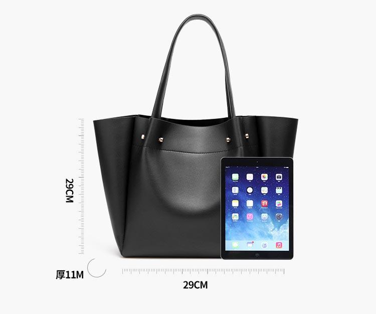 European and American fashion simple shoulder bag large capacity ladies handbag tote bag 1