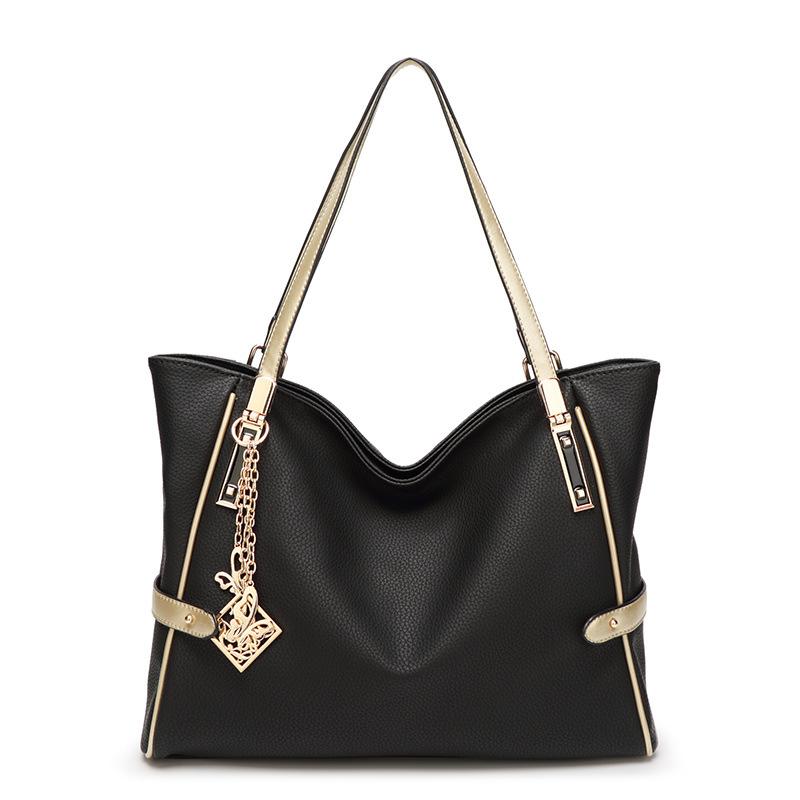 Female bag ornaments hit color European and American fashion shoulder bag big bag lady portable messenger large capacity bag 3