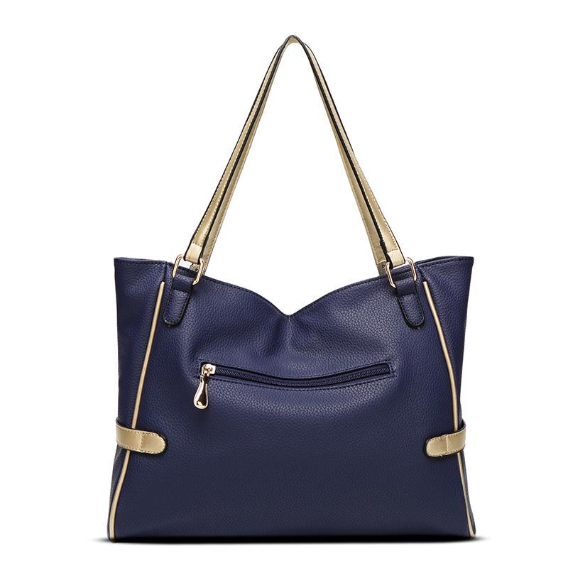 Female bag ornaments hit color European and American fashion shoulder bag big bag lady portable messenger large capacity bag 2