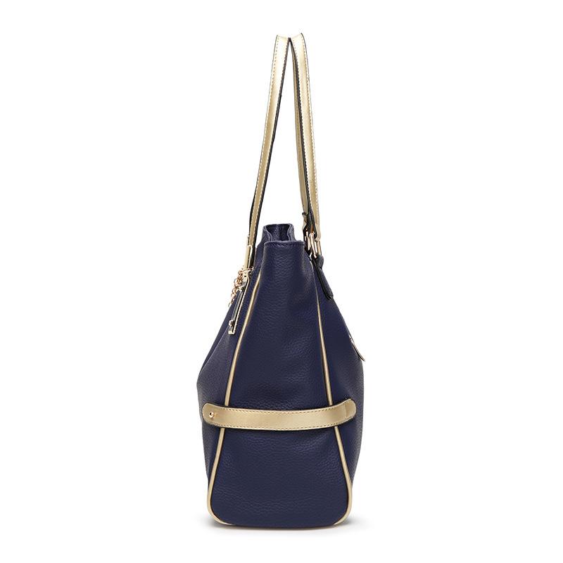 Female bag ornaments hit color European and American fashion shoulder bag big bag lady portable messenger large capacity bag 1