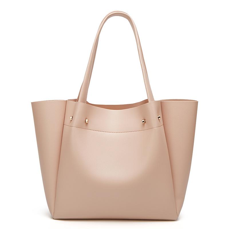 European and American fashion simple shoulder bag large capacity ladies handbag tote bag 4