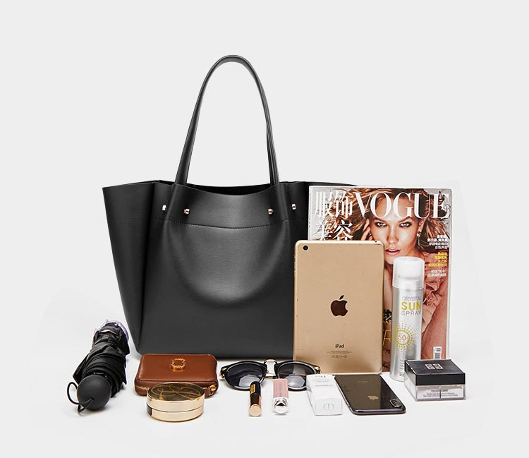 European and American fashion simple shoulder bag large capacity ladies handbag tote bag 0