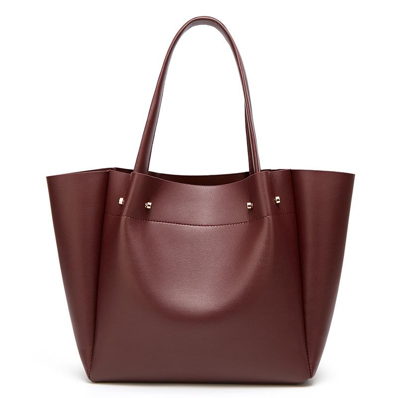 European and American fashion simple shoulder bag large capacity ladies handbag tote bag 5