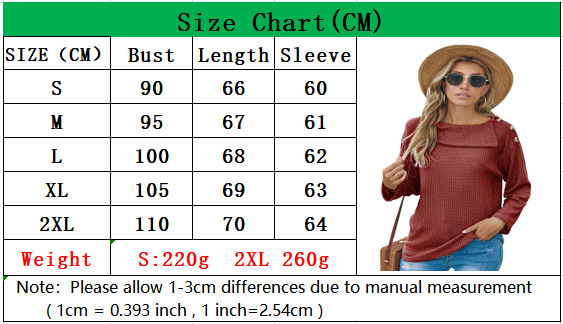 Fall/winter women's hot style, a shoulder button fashion sweater T-shirt long-sleeved top 4