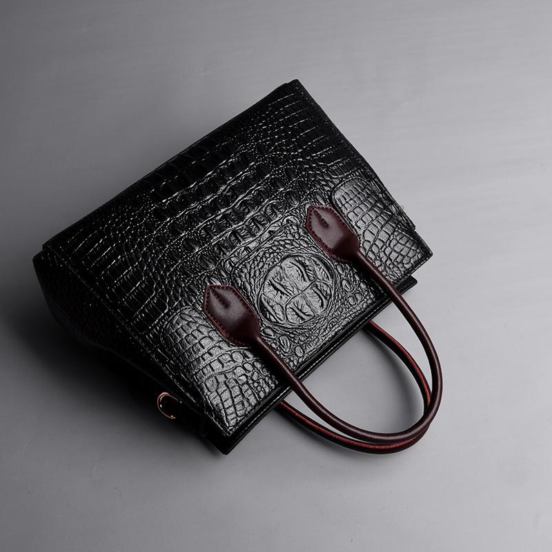 Female bag 2020 new European and American fashion ladies bag crocodile pattern shoulder messenger handbag female big bag 4