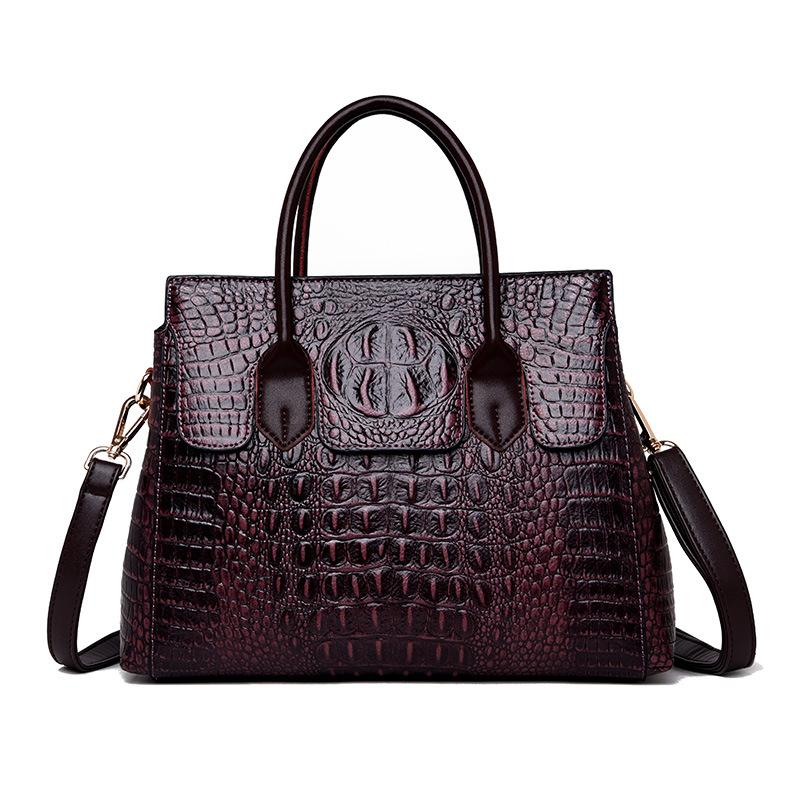 Female bag 2020 new European and American fashion ladies bag crocodile pattern shoulder messenger handbag female big bag 5