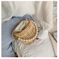 Hand-woven handbag