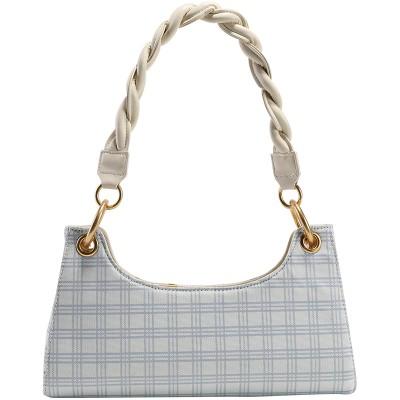 French lattice shoulder bag