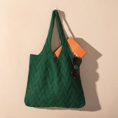 Knitted vest bag knitted pile bag
