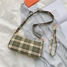 Plaid canvas bag