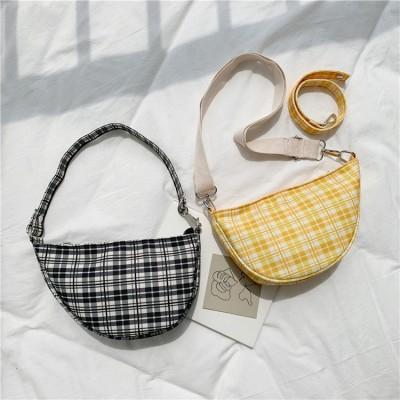 Wild lattice canvas dumpling bag