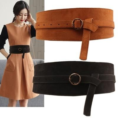 Dress Pin Buckle Velvet Belt Belt