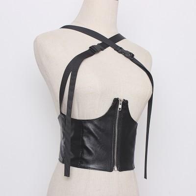 Personalized wild school bag buckle waistcoat