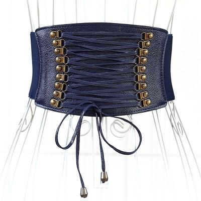 Vintage Women's Fringed Ultra Wide Waist Seal Elastic Elastic Belt