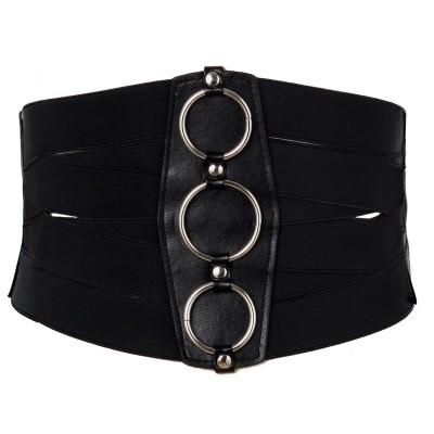 Lace up belt waist plastic waist was thin super wide waist seal belt