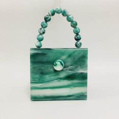 Acrylic square box bag handbag evening bag