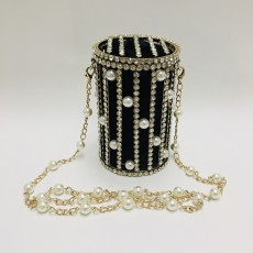 Pearl Rhinestone Hollow Pen Holder Bag Shoulder Crossbody Bag