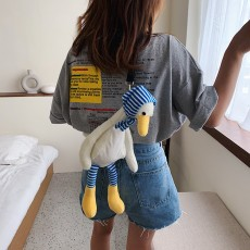 Cute red doll duck plush bag