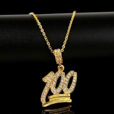 Alphabet necklace hip hop necklace jewelry