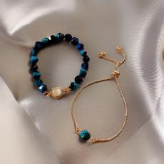 Light luxury green gemstone bracelet