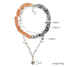 Exaggerated personality fashion colorful necklace