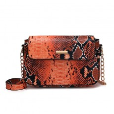 Snakeskin pattern ladies single-shoulder diagonal new European and American simple and atmospheric check bag small bag
