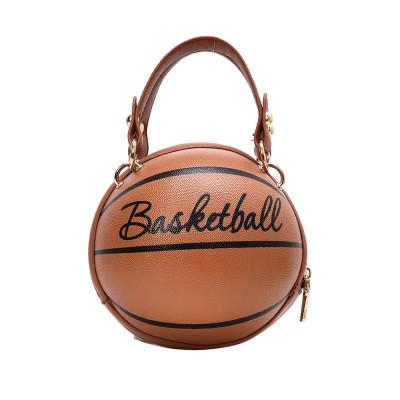 New Design Basketball Shape Hand Bag Fashion Women Chains Handbag Letter Shoulder Bag Female Mini Crossbody Bags Circular Purse
