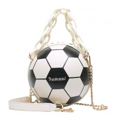 Football small round bag 2020 unique small bag popular fashion girl handbag chain crossbody basketball bag female bag