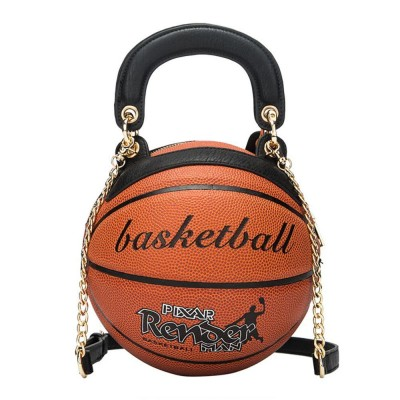Luxury High Quality Trend Round Female Bag Basketball Styling Personality Creative Hand Luggage Shoulder Chain Diagonal Package
