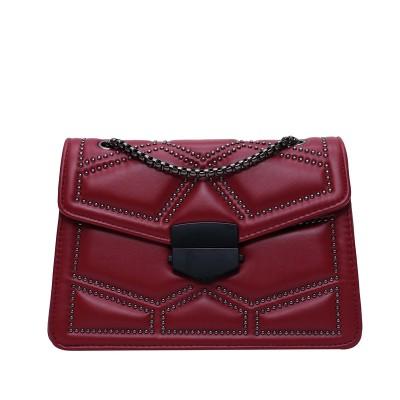 Rivet Chain PU Leather Small Crossbody Bags for Women 2020 Brand Designer Fashion Shoulder Bag Lady Luxury Handbags