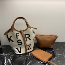 Graffiti vegetable basket bag female fashion all-match canvas bag design sense female bag portable bucket bag