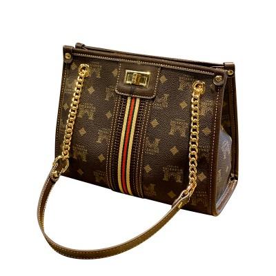 Ladies bag simple big brand wild shoulder bag luxury handbag