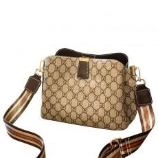Korean fashion all-match messenger bag fashion printing wide shoulder strap one-shoulder chain bag