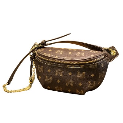 Ladies bag luxury big fan fan waist bag shoulder messenger small bag