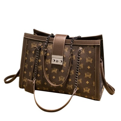 Women's bags, European and American atmosphere handbags, simple and versatile, ladies shoulder bags, chain, big bags