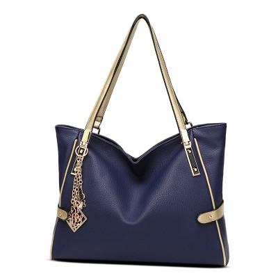 Female bag ornaments hit color European and American fashion shoulder bag big bag lady portable messenger large capacity bag