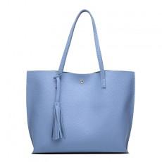New European and American tassel shoulder bag portable large capacity tote bag shopping bag