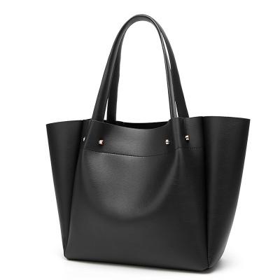 European and American fashion simple shoulder bag large capacity ladies handbag tote bag