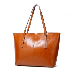 European and American fashion large-capacity oil wax leather shoulder bag tote bags