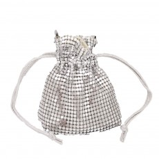 ins style European beauty bag drawstring mini aluminum bag ladies chain bag diagonal bag banquet bag lucky bag