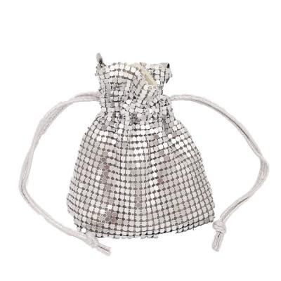 ins style European beauty bag drawstring mini aluminum bag ladies chain bag diagonal bag banquet bag lucky bag