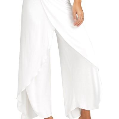 2020 Women's Wide Leg Pants EBAY New Hot Sale Loose Split Yoga Pants Women's Casual Pants