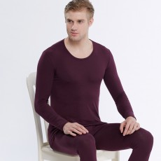 Cotton autumn clothes long trousers suit men's thermal underwear thin section pure cotton cotton sweater pajamas autumn and winter line clothes