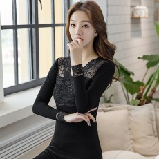 95% cotton autumn clothes long trousers suit women's thermal underwear middle school students wear thin cotton sweater pajamas autumn and winter